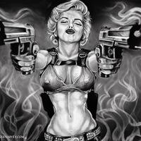 Marilyn Monroe szivaros festményei