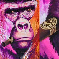 Szivarozó Majmok - Festmények