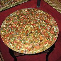 Dohányzó asztal dekoráció szivar gyűrűből