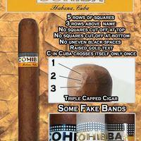 Az igazi Cohiba szivar ismertető jegyei