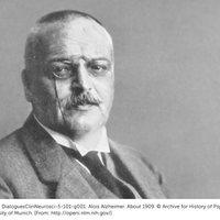 Csak magyarázás közben tette le a szivart Alois Alzheimer