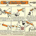 Oktató Tábla - Hogyan kell egy szivart elszívni?