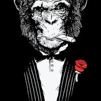 Cigar Monkeys - Szivarozó Majmok garfikák