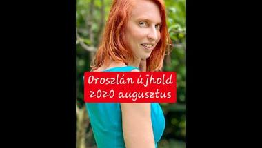Oroszlán újhold 2020. augusztus
