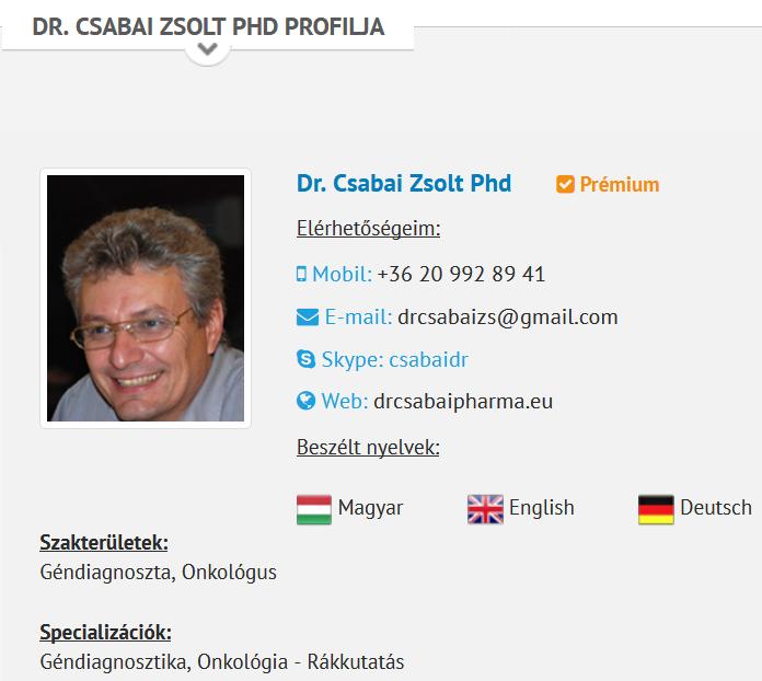 1. Csabai Zsolt profilja a gyogyvizek.hu internetes oldalon (<a href='https://web.archive.org/web/20170830154432/http://www.gyogyvizek.hu/gyogyaszat/szakorvos-valaszol/dr-csabai-zsolt-phd.html'>forrás: Internet Archive</a>)<br />