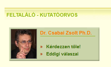 2. Csabai Zsolt profilja a vitaminsziget.com oldalon (forrás: <a href='https://web.archive.org/web/20170606035942/http://www.vitaminsziget.com/szakertok.php'>Internet Archive</a>