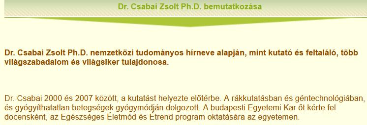 3. Csabai Zsolt bemutatkozása a vitaminsziget.com oldalon (forrás: <a href='https://web.archive.org/web/20170617025907/http://www.vitaminsziget.com/cv.php?id=7'>Internet Archive</a>