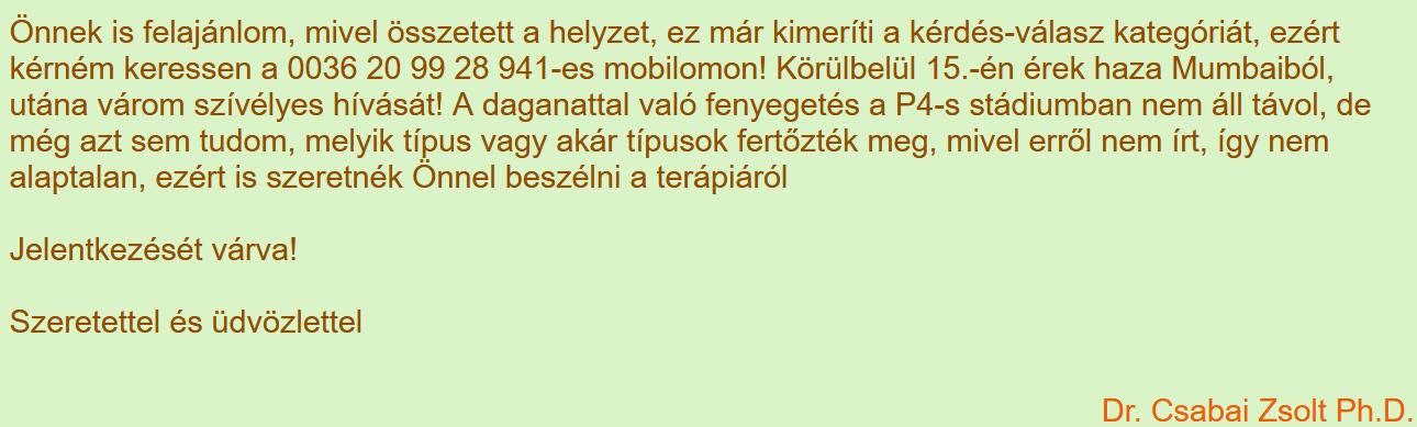 7. Csabai Zsolt válaszai betegeknek a vitaminsziget.com oldalon (forrás: <a href='https://www.vitaminsziget.com/kerdes.php?start=1580&r=2'>Internet Archive</a>)