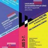 V4 színházi fesztivál cseh, lengyel és szlovák fellépőkkel