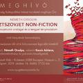 Németh Orsolya: Posztszovjet non-fiction. Könyvbemutató