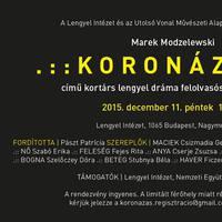 Marek Modzelewski: Koronázás - Felolvasószínházi est