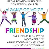 A Game of Voice - Friendship. Szabó Magda Emlékverseny november 15-én
