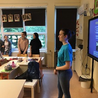 AFS cserediák előadása az iskolában