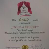 Gold Prize az Open Curtain Országos Drámafesztiválon
