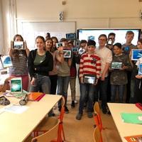 Német delegáció az iskolában