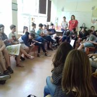 Gyermekjogi előadás és beszélgetés a 7.-8. osztályosokkal