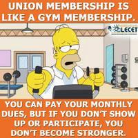 A szakszervezet olyan, mint az edzőterem...