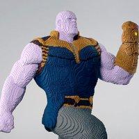 Thanos Lego szobor a ComiCon-on