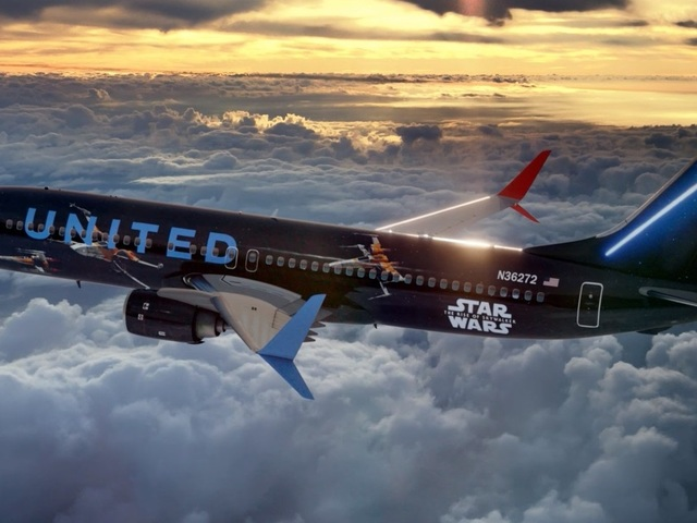 Star Wars: Skywalker kora - United Airlines