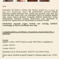 Újabb Szegedi búvóhely (e-mail ajánlással)