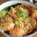 Wonton - Kína levesbe töltve