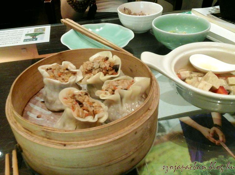 shu mai barna rizses- zöldséges vega verzióban