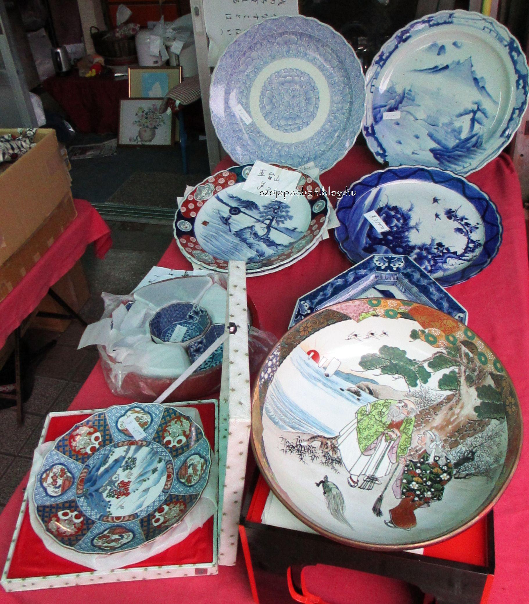 szavacsi tálak, hagyományos porcelán szasimi tálalók 30-40cm átmérővel