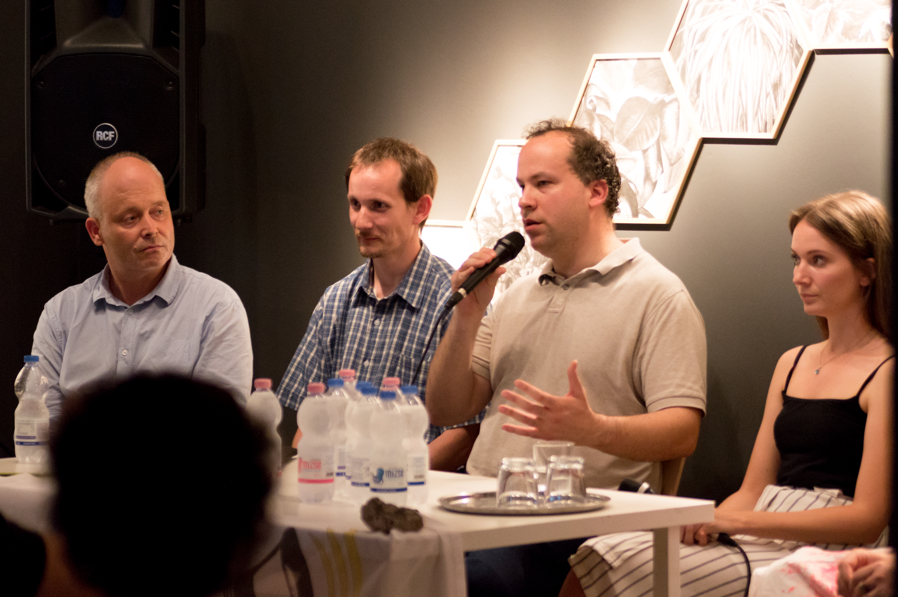 Balról jobbra: Hegyi Csaba; Cs. Szabó Sándor; Berecz Péter, Béres Zsuzsa