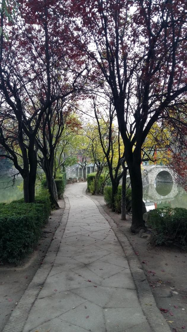 Így fest egy kínai park az ősz közepén