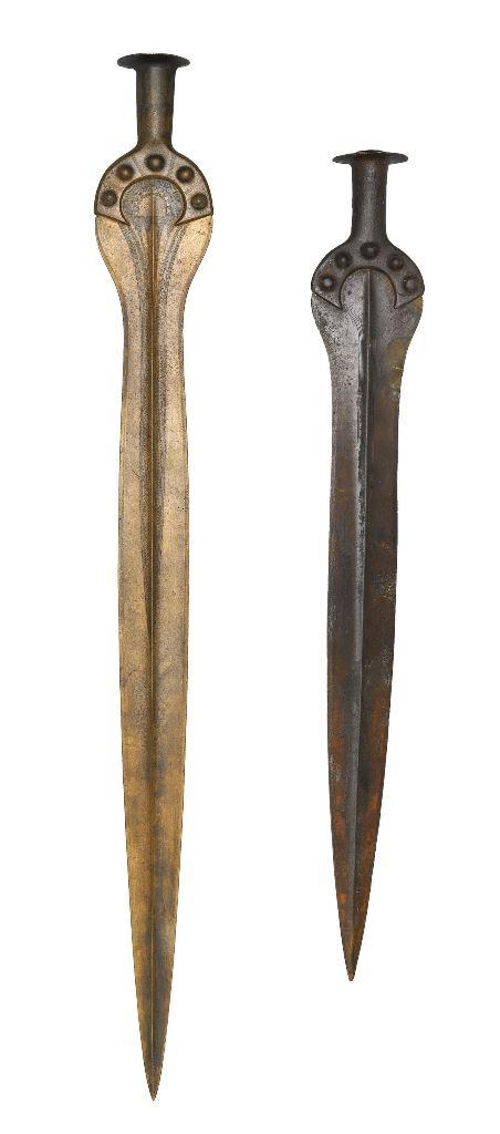 10.Dániában előkerült bronz kardok, melyek valószínűleg a Kárpát-medencében készülhettek. Forrás: https://en.natmus.dk/historical-knowledge/denmark/prehistoric-period-until-1050-ad/the-bronze-age/north-south-exchanges-in-the-bronze-age/distant-connections/