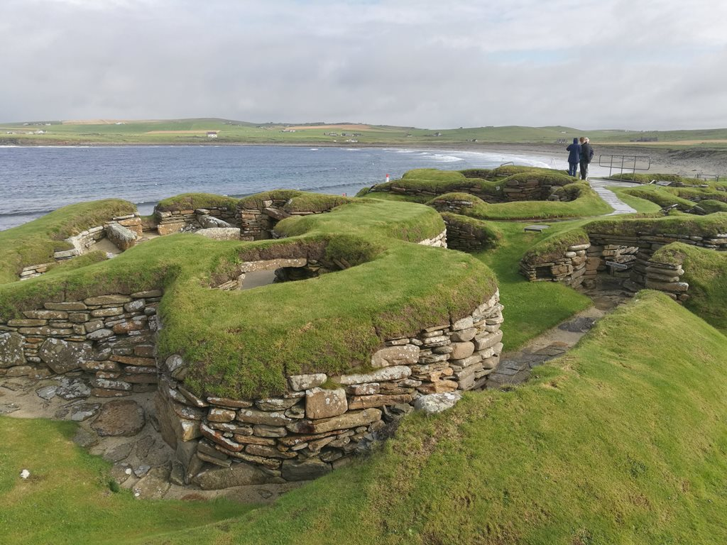 6. kép: Skara Brae, neolit telep egy kis részlete.