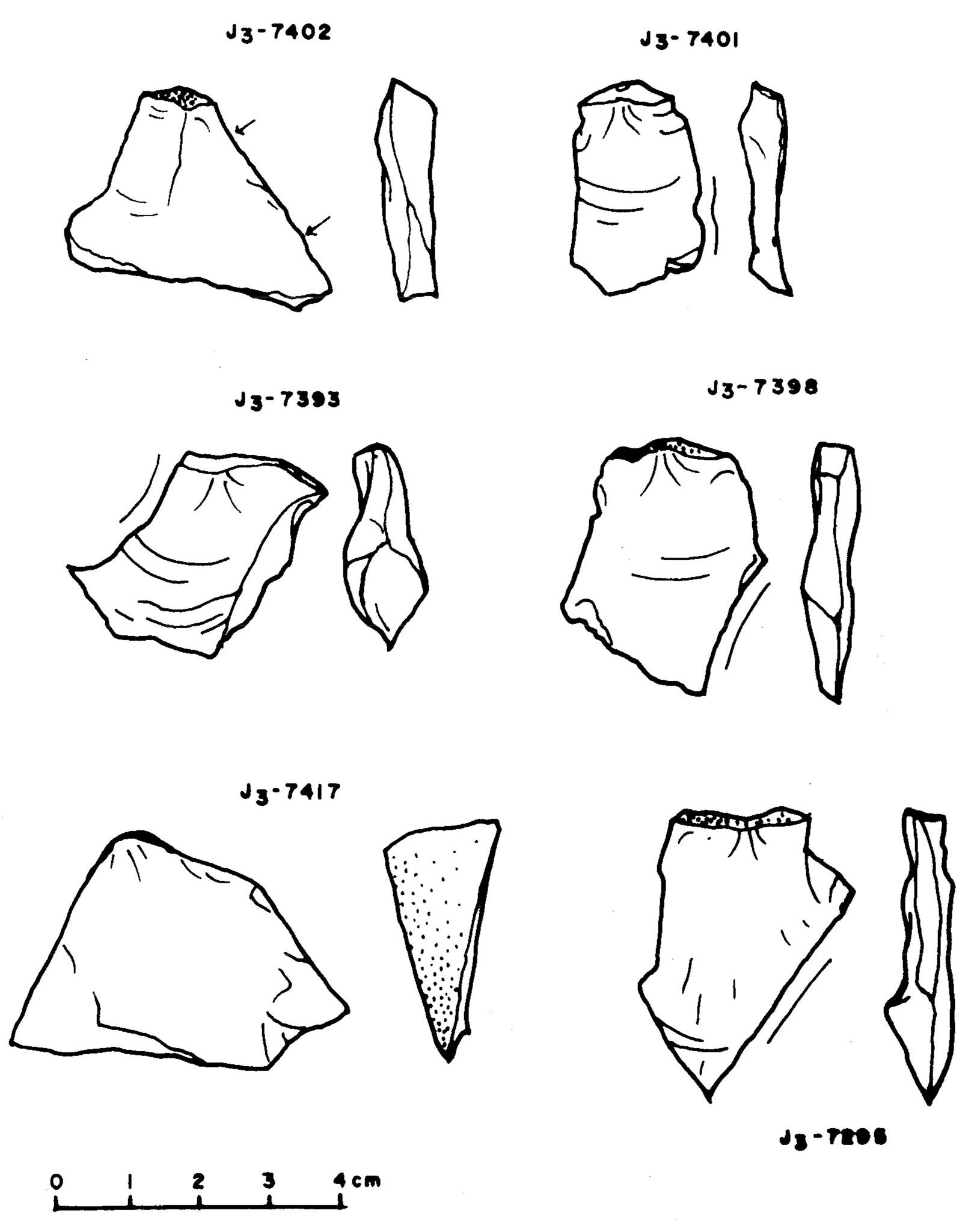 Kő eszközök/pattintékok neolitikus rétegből