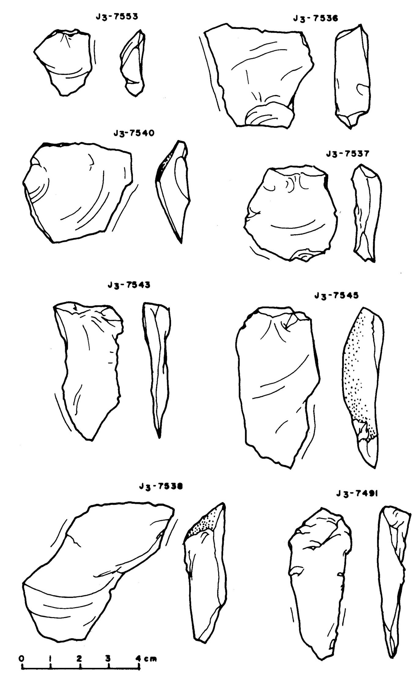 Kő eszközök/pattintékok akeramikus rétegből