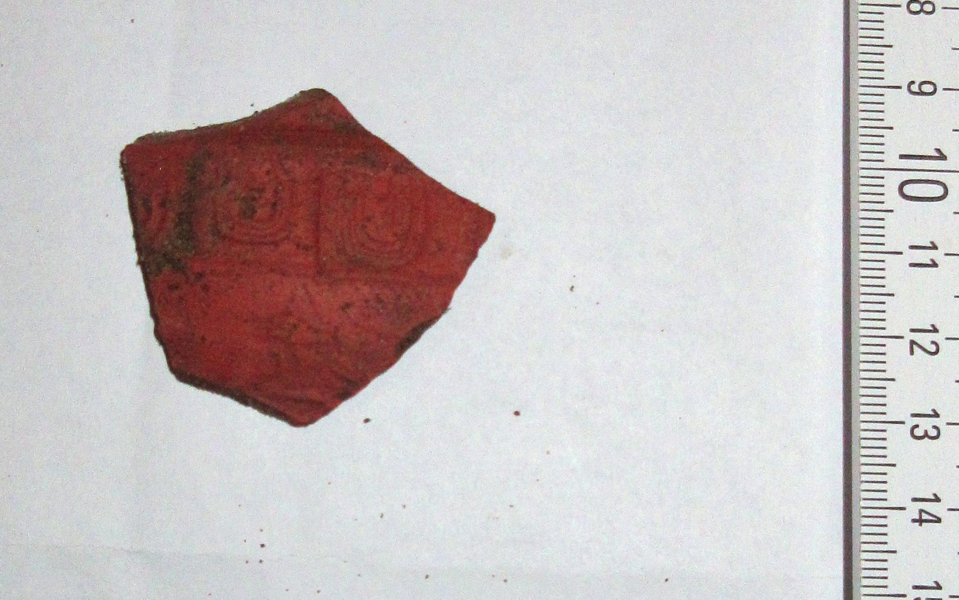 Római eredetű edény egy töredéke