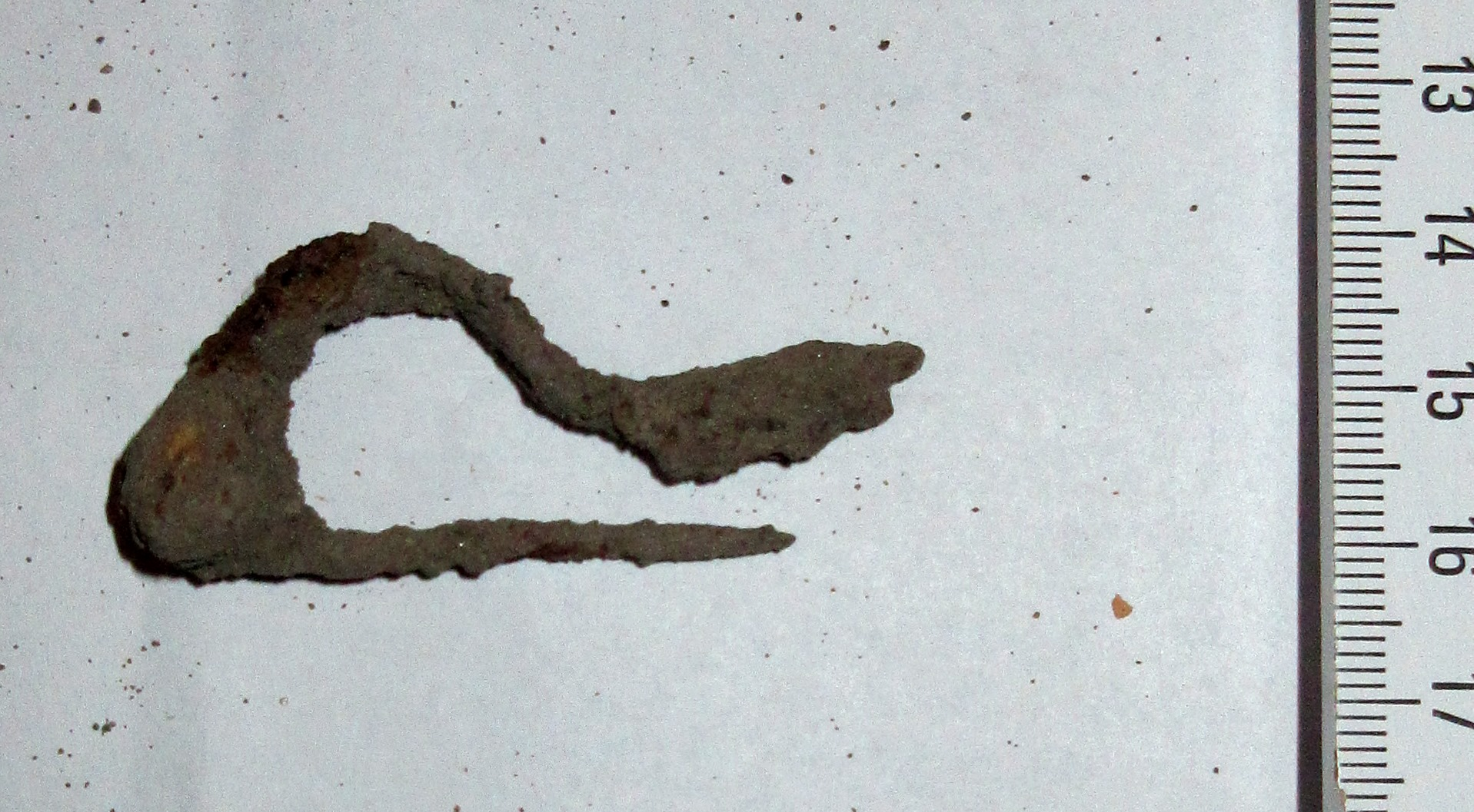 Vasból készült ruhakapcsolótű ún. fibula