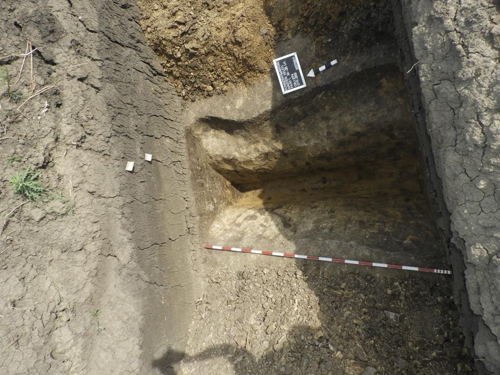 Késő bronzkori telep kerítő árka