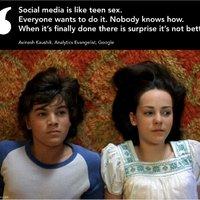 A közösségi média olyan, mint....