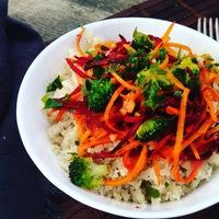 Karfiol rizs, pirított zöldségekkel