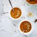 Kardamomos, gyömbéres sültrépa leves