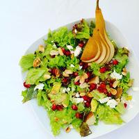 Körtés-avokádós-gránátalmás saláta