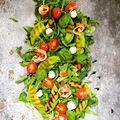 Grillezett sárgadinnye saláta