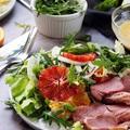 Vérnarancsos édeskömény saláta tormás dresszinggel