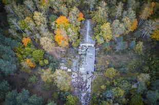 Gomel-30, egy szovjet atomtöltet raktár elhagyott épületei