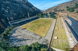 Az FC Chiatura elhagyatott stadionja