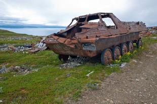 Felső Kildin, lélegzetelállító elhagyott szovjet bázis