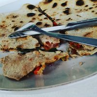 Delicious vegan quesadillas for breakfast :-)