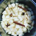Apple soup in Christmas style