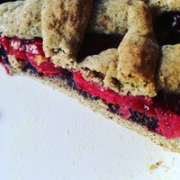 Meggyes-mákos rácsos süti