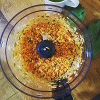 Paradicsomos répás-hagymás- babos melegszendvics krém vacsira