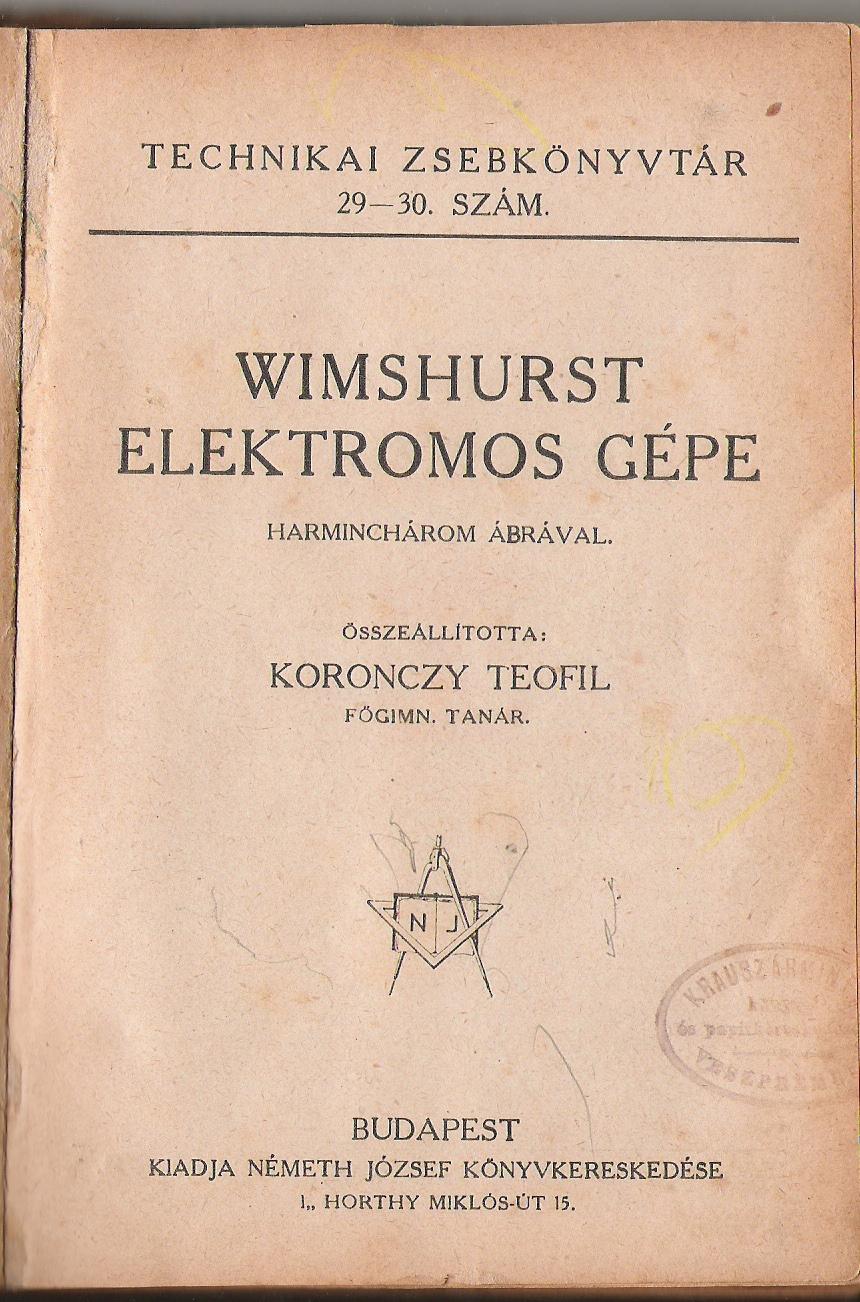 Az erről a szerkezetről szóló könyv, amelyben részletesen leírják, ez alapján bárki elkészítheti. (A könyv évszám nélküli, de biztosan 1923 előtti.)